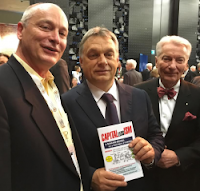 Prime Minister Orbán Viktor, Tony Kez and Szilveszter E. Vizi, promoting CAPITALlessISM by Dr. Anthony Horvath
